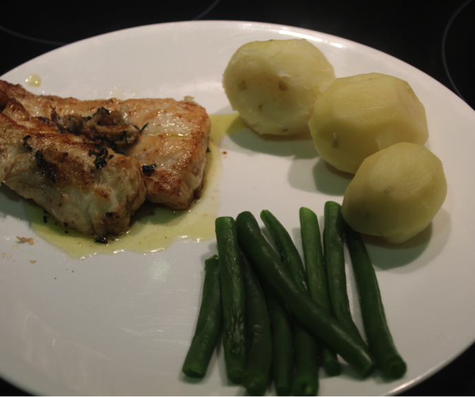 Fish with Lemony Butter Sauce