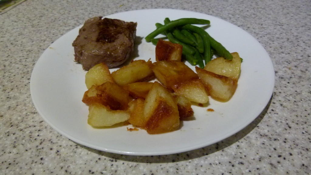 Steak and Crunchy Potato Bites
