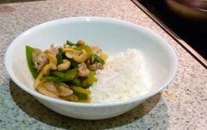 Tangy Lemon  Chicken Stirfry with Rice