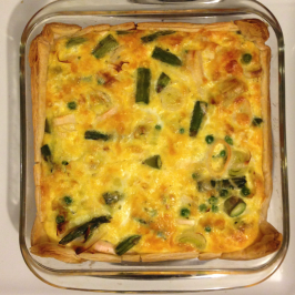 Chicken and Asparagus Quiche (S)