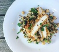 Simply Failsafe Crispy Chicken with Quinoa Salad