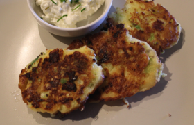 Choko, Spring Onion and Cottage Cheese Fritters
