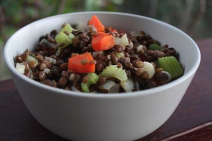 Easy Lentil & Veg Side Dish