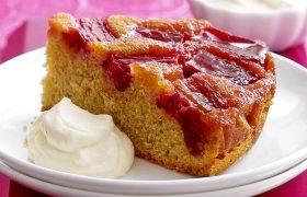 Rhubarb Upside Down Cake (S)