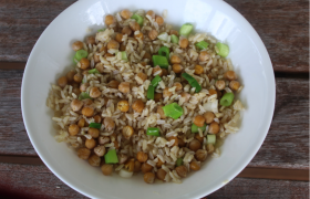 Brown Rice and Chickpeas