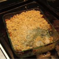 Chicken and Leek Casserole with Oat Topping