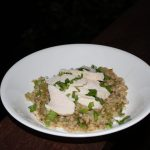 Leek and Celery Barley Stew with Poached Chicken